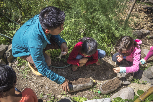 Caracol students learn from nature.