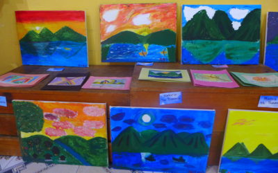 Escuela Caracol students develop their artistic vein.