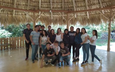 "Visit by the students of el ""El Pilar"""